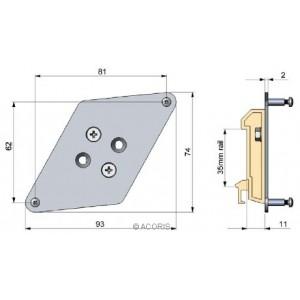 Kit de montage rail Din ACCTRAIL OPTRIS