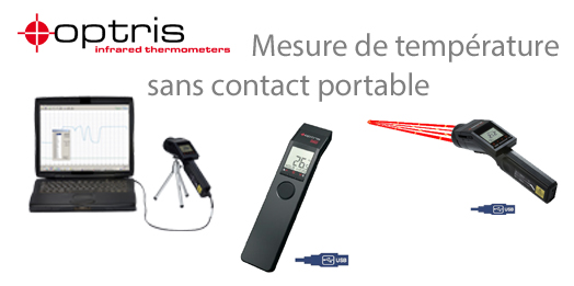 Mesure de temp�rature sans contact portable OPTRIS